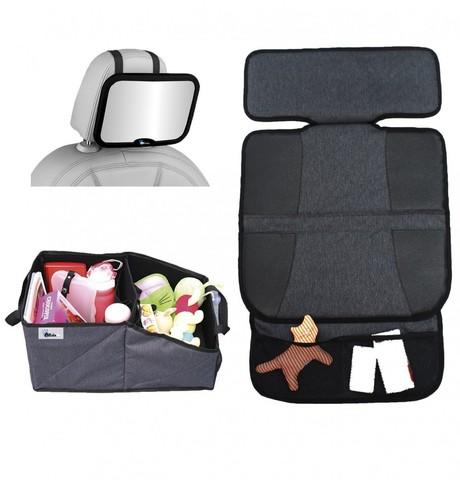 Комплект для поездок AL1969 (зеркало на спинку/защитный коврик на сиденья/органайзер для автокресла) (стандарт)