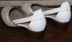 Летние женские туфли Evromoda 101-6 White.