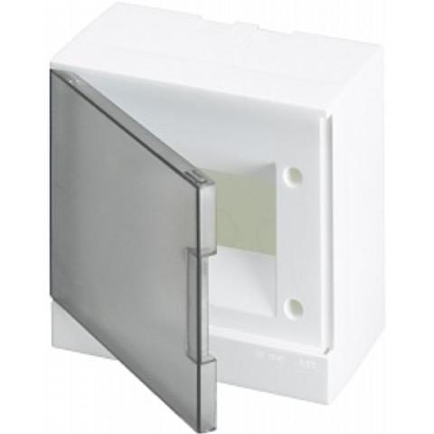 Бокс на стену Basic E 6-модулей прозрачная дверь. Цвет Белый. (с клеммами) 190mm*180mm*102mm IP40. ABB. 1SZR004002A2202