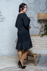 Жаклин. Повседневное платье больших размеров. Черный
