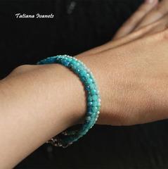 Тонкий браслет из амазонита