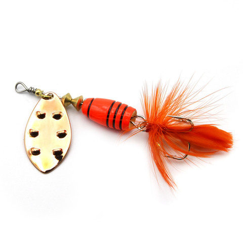 Блесна Extreme Fishing Total Obsession №3 9g 10-FluoOrange/Cu