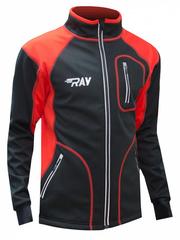 Куртка разминочная RAY WS модель STAR (UNI) черный/красный красный шов
