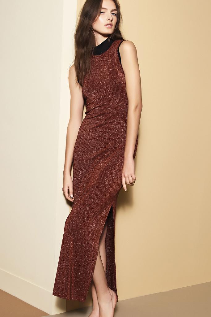 Длинное платье с разрезом Twin-Set