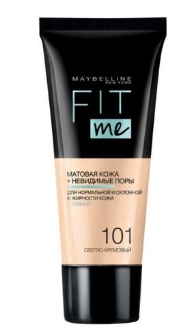 Maybelline Fit Me тональный крем матовая кожа + невидимые поры №101 светло-кремовый