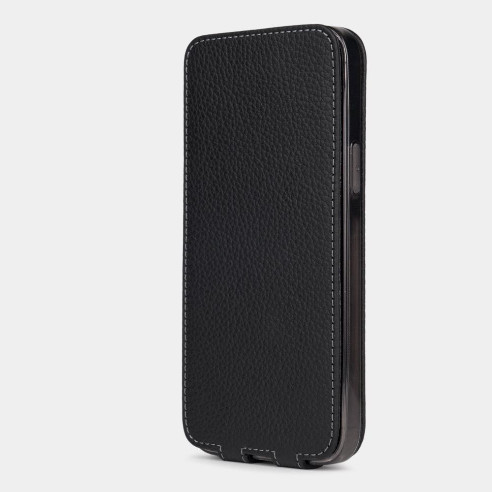 Чехол для iPhone 13 Pro из натуральной кожи теленка, цвета черный мат