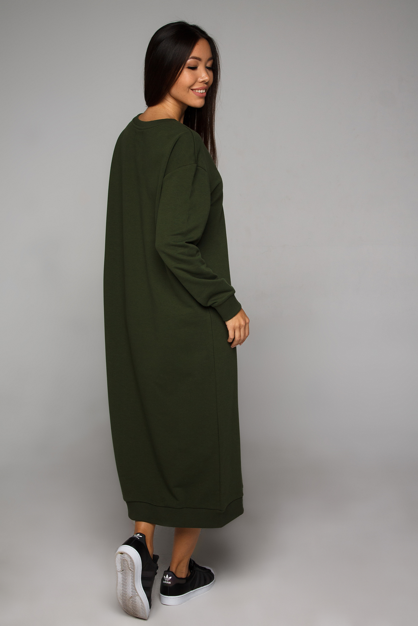 Платье-свитшот оливковое YOS от украинского бренда Your Own Style