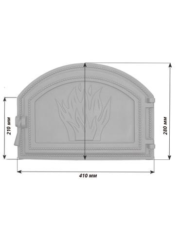 Дверца Везувий 223 - Антрацит