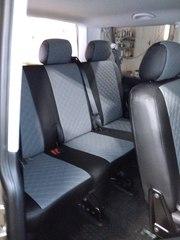 Чехлы на Volkswagen T6 микроавтобус Multivan / Caravelle / Transporter 2015–2021 г.в.