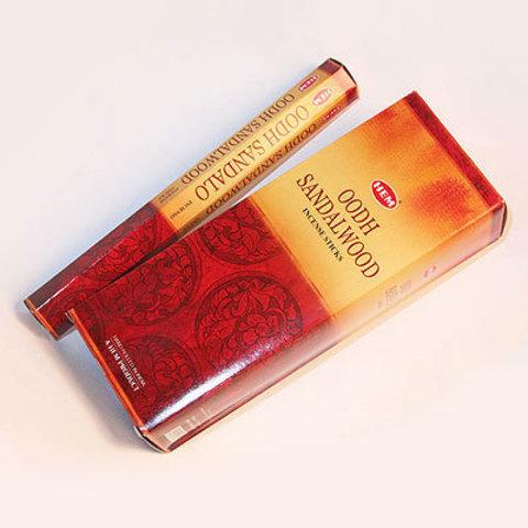 Благовония HEM Hexa OODH-SANDALWOOD аромапалочки Сандал с агаром  , 20 г (20 ароматических палочек)