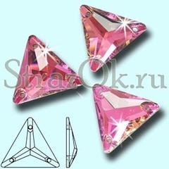 Стразы пришивные треугольники купить оптом Vitrail Pink, Triangle