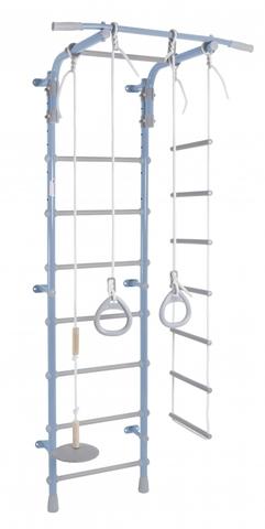 ДСК Pastel 2 цв.голубой-серый (регулируемый турник. веревочная лестница, тарзанка, кольца)