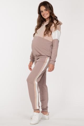 Спортивный костюм для беременных и кормящих 11609 бежевый