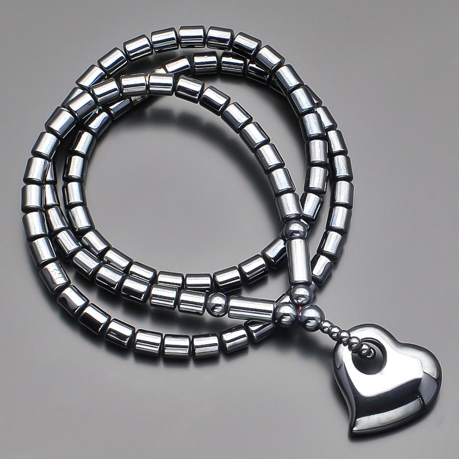 Чокер из гематита стального цвета с подвеской в форме сердца Rico la Cara AMX007175