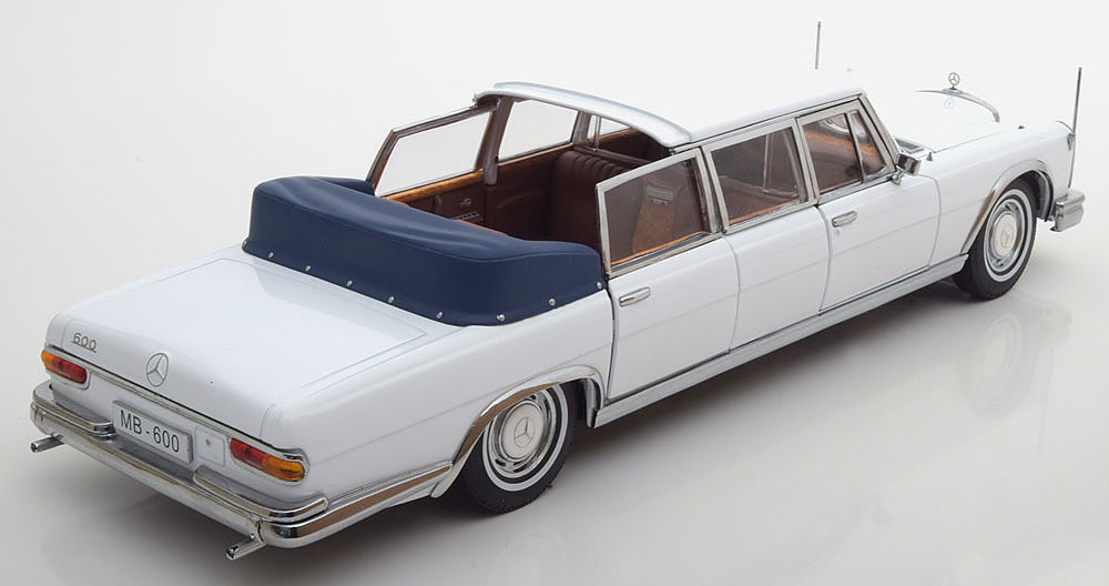 Коллекционная модель Mercedes-Benz W100 600 Pullman Limo landaulet 1966 White
