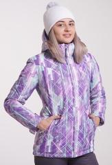Утеплённая прогулочная лыжная куртка Nordski City Violet-Mint-Grey женская