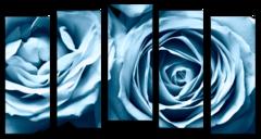 """Модульная картина """"Голубые розы"""""""