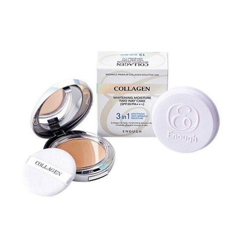 Антивозрастная пудра Enough Collagen Whitening Moisture Two Way Cake #13 , 13г*2