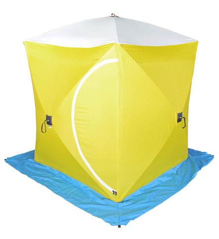 Палатка для зимней рыбалки Стэк Куб-1 трехслойная (дышащий верх)