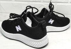 Модные черные кроссовки сетка женские Fashion Leisure QQ116.