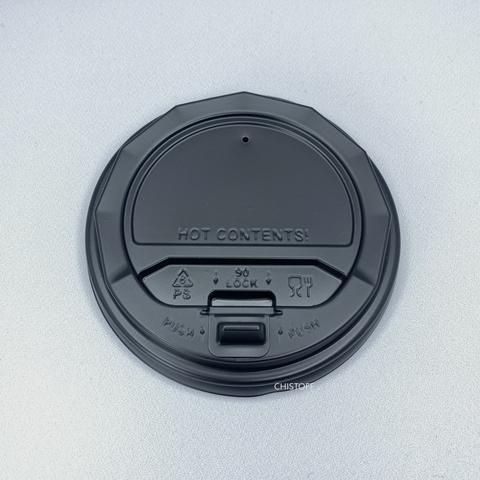 Крышка на стакан 80 черная с клапаном (50 шт.)