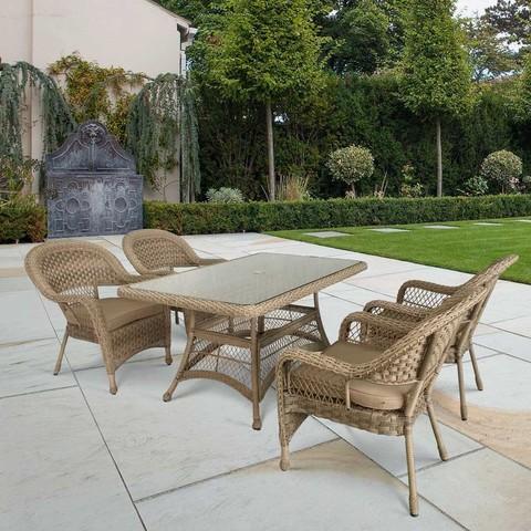 Комплект плетеной мебели T130Bg/Y130Bg-150x90 Beige/Beige 4Pcs