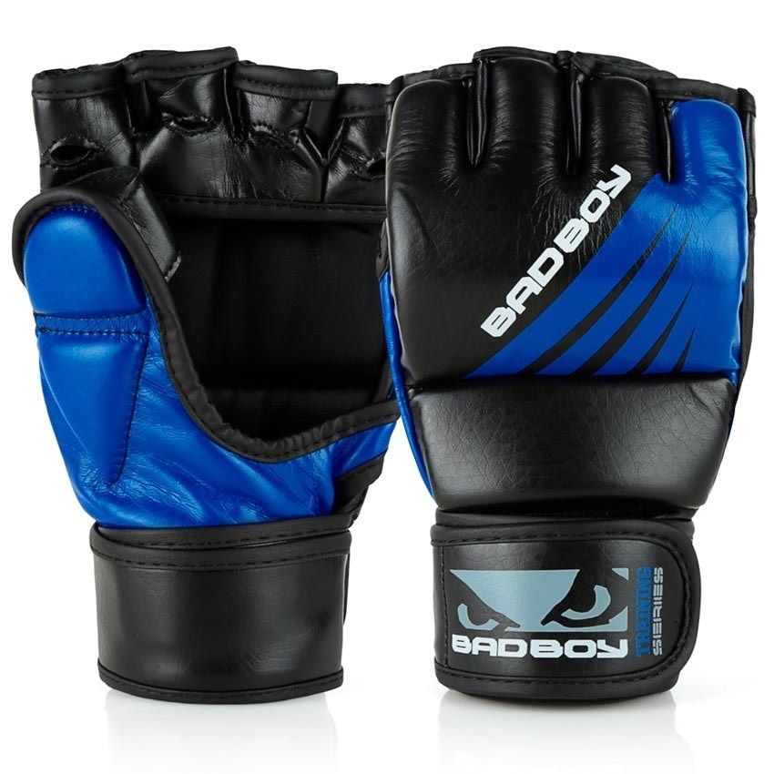 ММА перчатки Перчатки для ММА Bad Boy Training Series Impact With Thumb Black/Blue 1.jpg