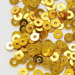 Пайетки золотые, 3 мм, 10 грамм