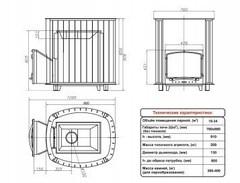 Печь Калита Дружина (Дверка - Чугунная, с панорамным стеклом)