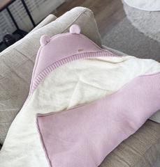 Зимний комплект на выписку из роддома Мишутка (розовый)