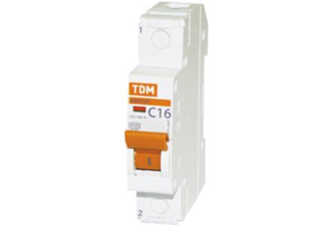 Автомат выкл.TDM ВА47-29 1Р 16А 4,5кА С