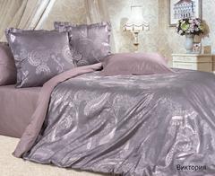Жаккардовое постельное бельё семейное Виктория