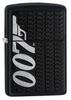 Зажигалка Zippo James Bond с покрытием Black Matte, латунь/сталь, чёрная, матовая, 36x12x56 мм
