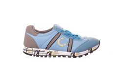 Голубые кроссовки из текстиля