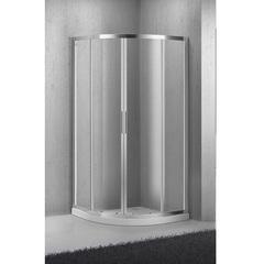 Душевой уголок с раздвижными дверьми 90х90х190 см BelBagno Sela SELA-R-2-90-C-Cr фото