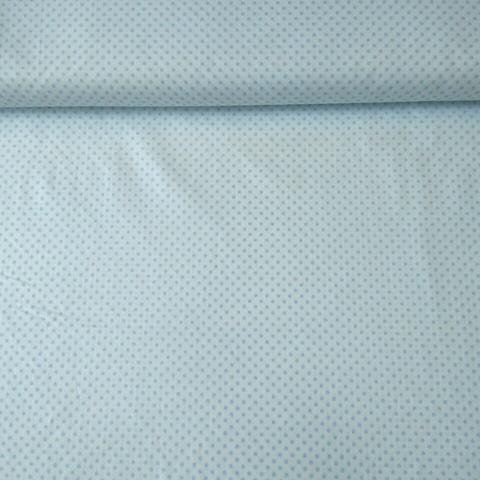 Ткань хлопковая голубой горошек 3 мм на белом, отрез 50*80 см