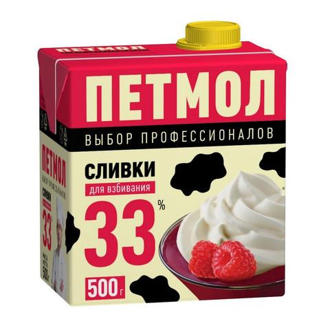 Сливки Петмол ультрапастеризованные 33% 500 г