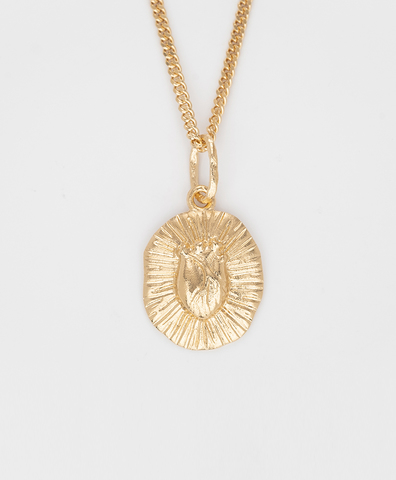 Iconic heart gold embossed small