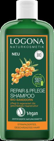 LOGONA Шампунь для интенсивного восстановления волос с био-облепихой, 250 мл