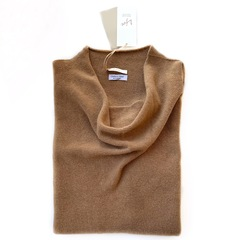 Пуловер с глубоким вырезом (Карамель)
