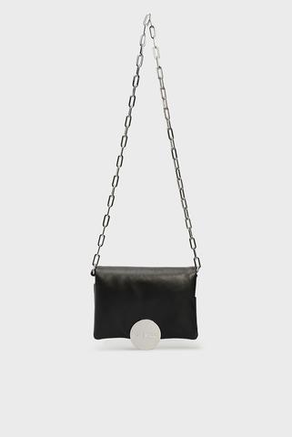 Женская черная кожаная сумка через плечо MYLLER / REBUTYA S Diesel