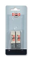 Ластики для графита и чернил серо-белые 6541, 57х14х8мм, 2шт, блистер