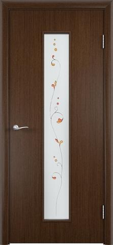 Дверь Верда С-21, стекло Сатинато (Амелия), цвет венге, остекленная