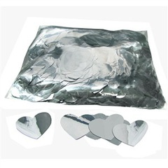 Металлизированное конфетти Сердца 4,1см Серебро