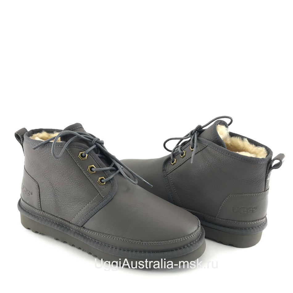 UGG Womens Neumel Leather Grey