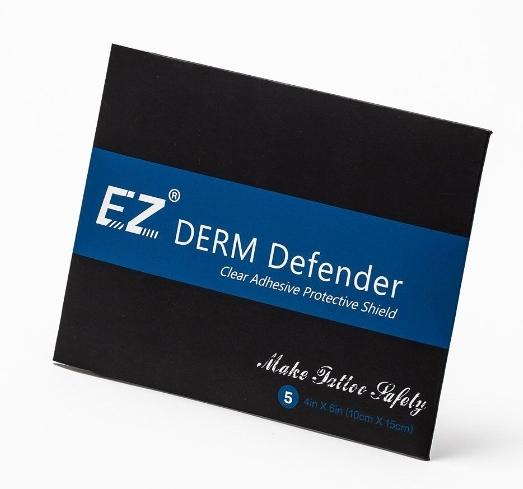 Восстанавливающая пленка 10*15 см (5шт) EZ PREMIUM  Derm Defender Tattoo в индивидуальной упаковке