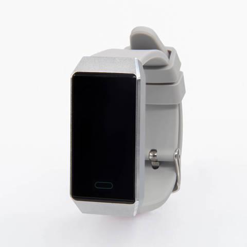 Браслет здоровья с автоматическим измерением давления, пульса и контролем аномального пульса Health Band №9 (серебро)