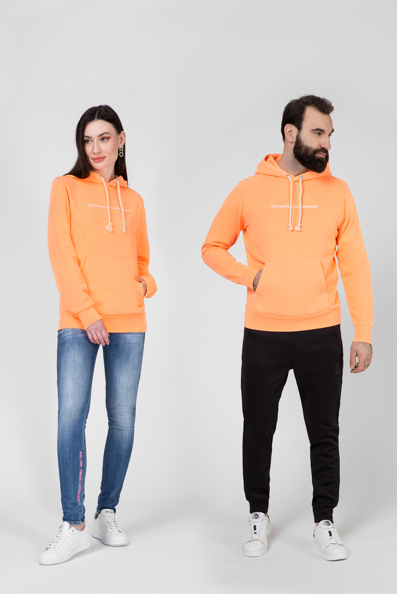 Оранжевое худи S-GIRK-HOOD-FLUO Diesel