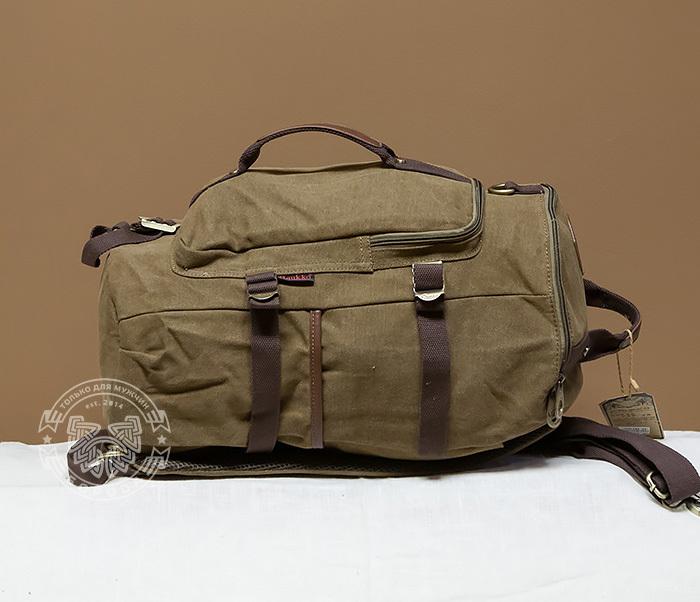 BAG368-2 Стильная и вместительная сумка рюкзак с ремнем на плечо фото 03