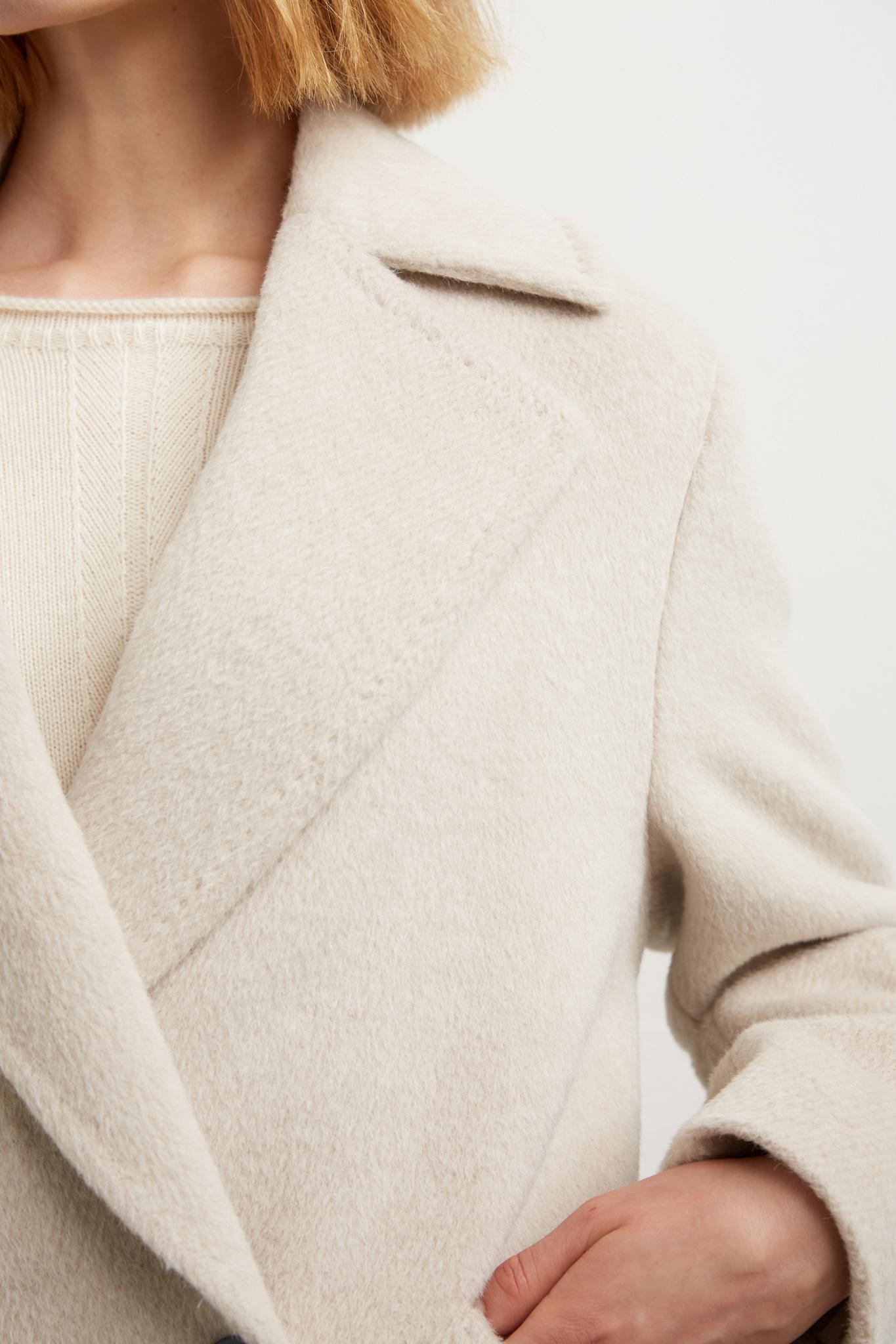 SANDY - Двубортное пальто из альпаки